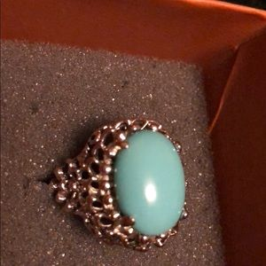 Jewelry - 💍🎉Turquoise with 18KT gold electroplated ring💍